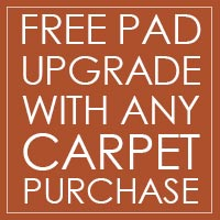 Free Pad Upgrade with any carpet purchase at West Carpets in Rahway!