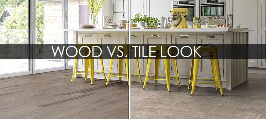 Karndean wood versus tile look flooring