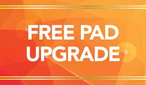 Free pad upgrade with any carpet purchase